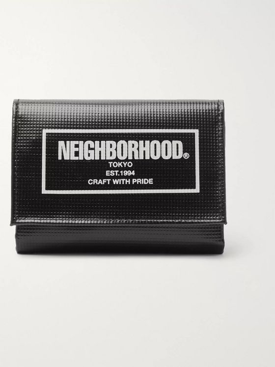 Neighborhood Logo-Print PVC Tarpaulin Billfold Wallet