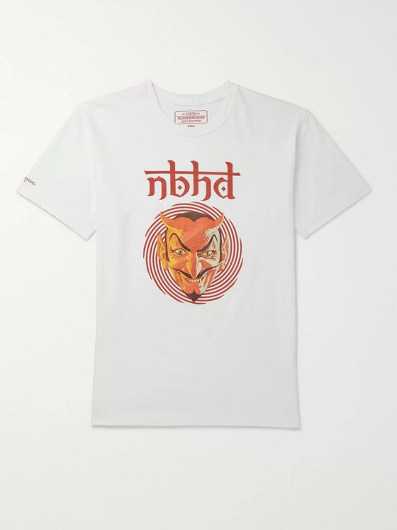 Neighborhood Vertigo Logo-Print Cotton-Jersey T-Shirt