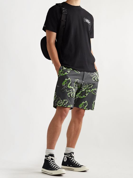 NEIGHBORHOOD Printed Cotton-Twill Shorts