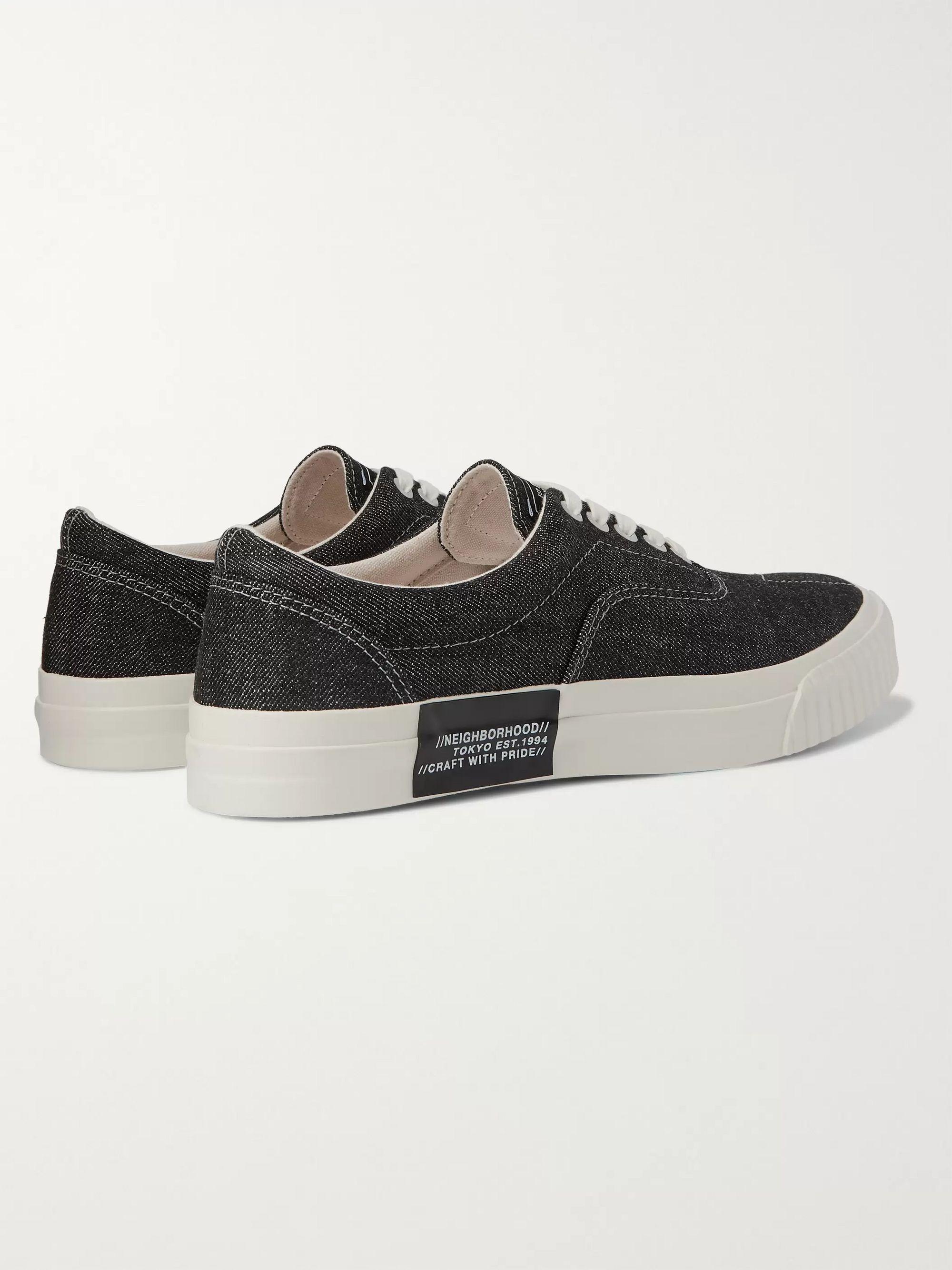 Black Deck Denim Sneakers   Neighborhood