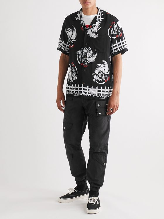 Neighborhood Aloha Camp-Collar Printed Woven Shirt