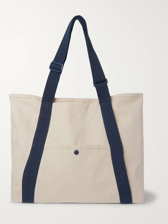 Vans + Pilgrim Surf + Supply Webbing-Trimmed Logo-Embroidered Cotton-Canvas Tote Bag