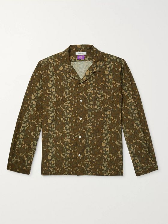 nonnative Camp-Collar Printed Voile Shirt