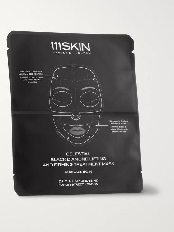 111SKIN Celestial Black Diamond Lifting and Firming Treatment Mask, 4 x 74ml