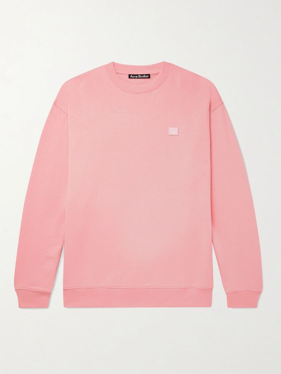 Acne Studios Logo-Appliquéd  Fleece-Back Cotton-Jersey Sweatshirt