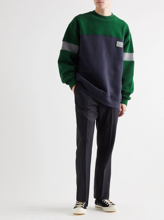 Acne Studios Oversized Logo-Appliqued Fleece-Back Cotton-Jersey and Terry Sweatshirt