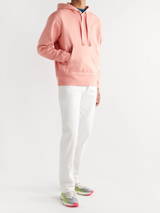 ACNE STUDIOS Ferris Logo-Appliquéd Fleece-Back Cotton-Jersey Hoodie