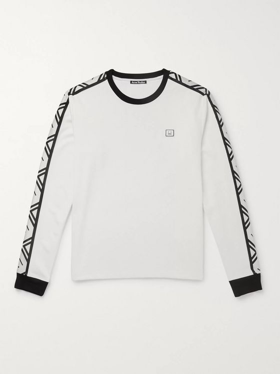 Acne Studios Logo-Appliquéd Stretch-Jersey T-Shirt