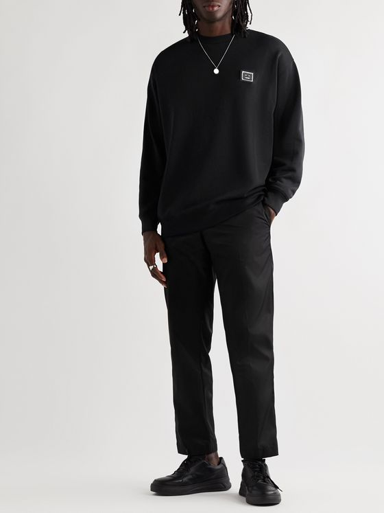 Acne Studios Oversized Logo-Appliquéd Loopback Cotton-Jersey Sweatshirt