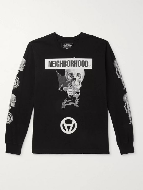 Neighborhood + Kostas Seremetis Printed Cotton-Jersey T-Shirt