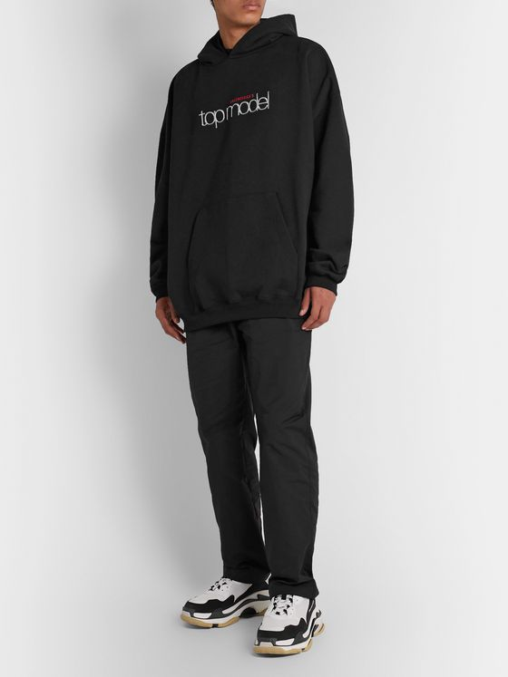 Balenciaga Oversized Printed Loopback Cotton-Jersey Hoodie