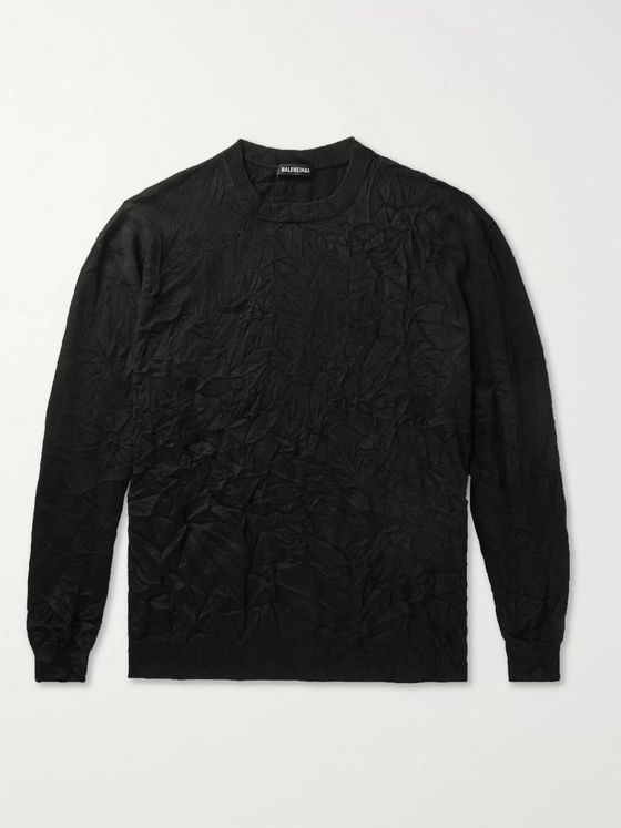 Balenciaga Crinkled Knitted Sweater