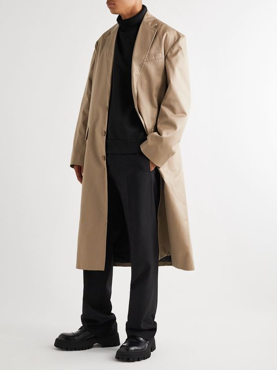 BALENCIAGA Cotton-Twill Coat