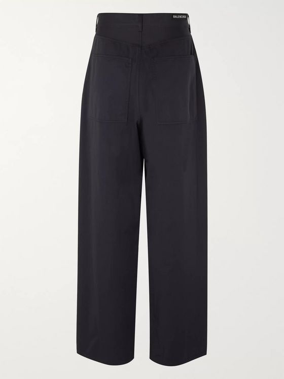 Balenciaga Cotton-Twill Trousers