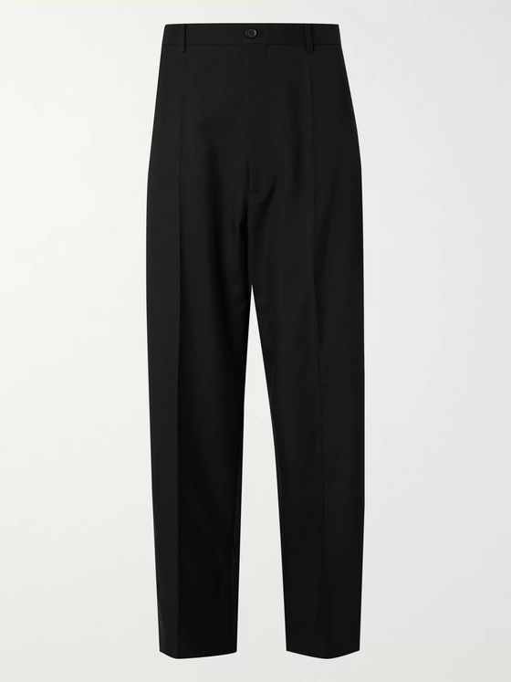 Balenciaga Pleated Wool-Blend Twill Trousers