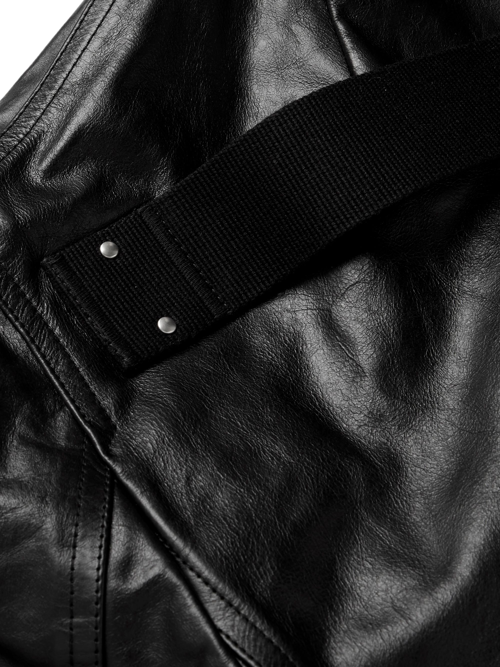 Rick Owens Island Leather Jacket