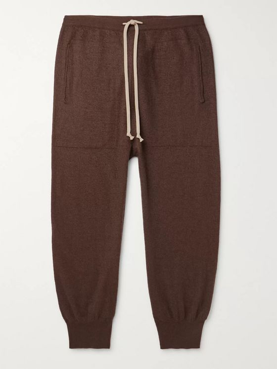 Rick Owens Tapered Boiled Cashmere Sweatpants