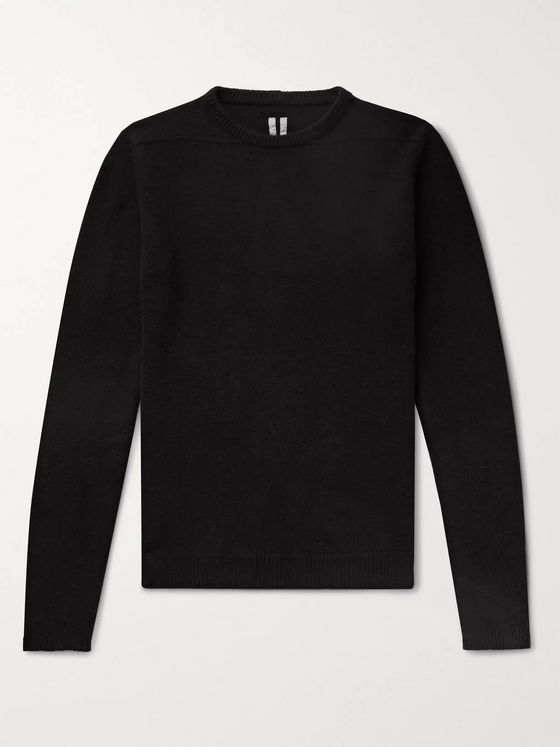 Rick Owens Biker Cashmere and Wool-Blend Sweater