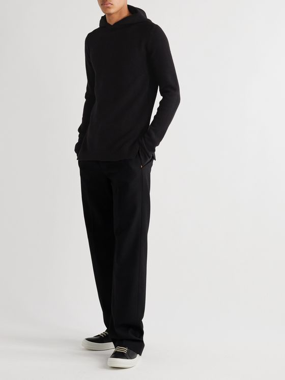 Rick Owens Slim-Fit Cashmere and Wool-Blend Hoodie