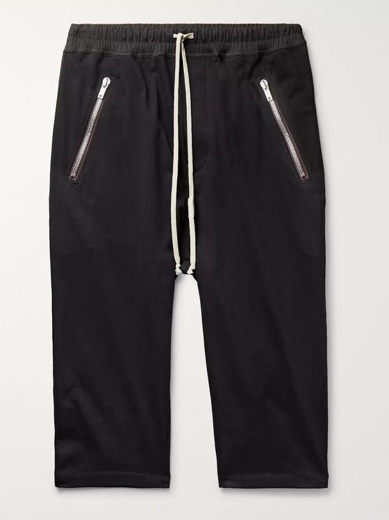 Rick Owens Tecuatl Cropped Cotton-Jersey Sweatpants