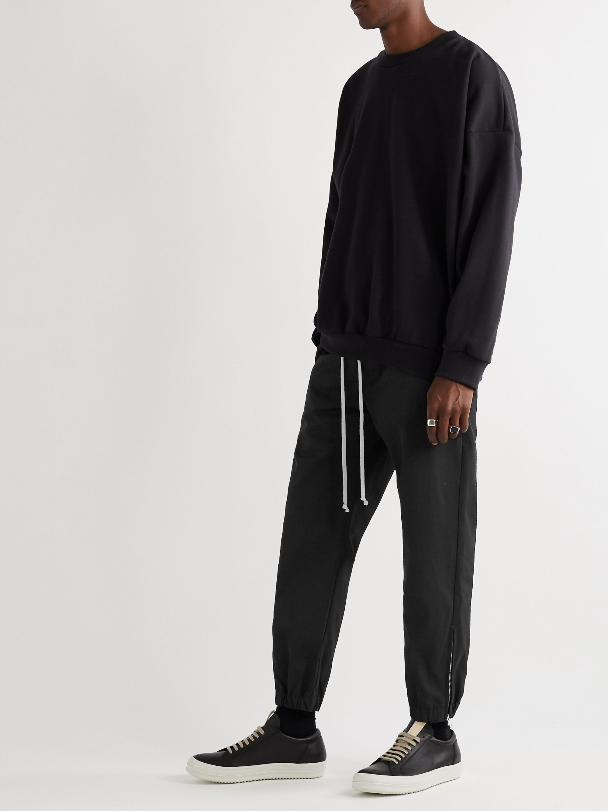 Rick Owens Tapered Twill Drawstring Trousers