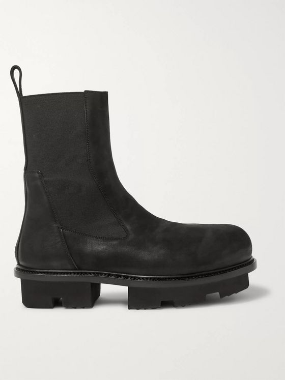 Rick Owens Bozo Megatooth Full-Grain Leather Chelsea Boots