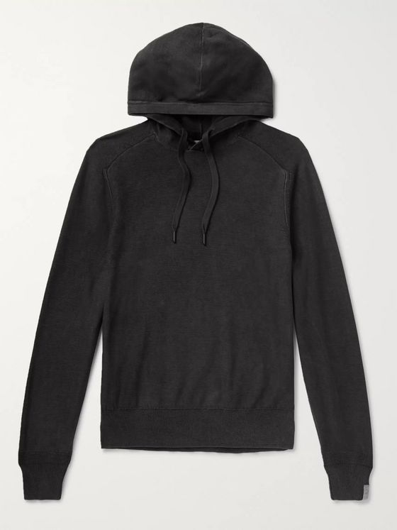 RAG & BONE Lance Slim-Fit Cotton-Jersey Hoodie