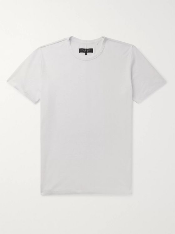 rag & bone Classic Air Linen-Blend T-Shirt