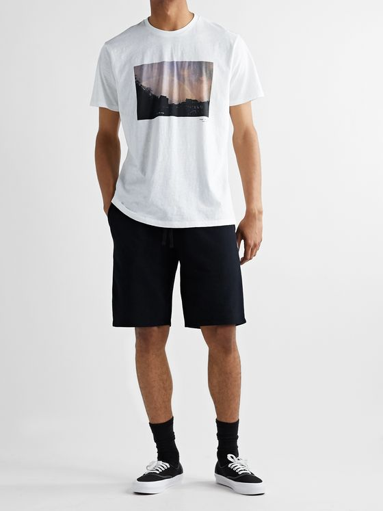 rag & bone Printed Slub Cotton-Jersey T-Shirt
