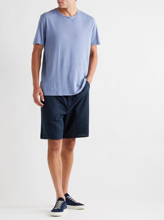 RAG & BONE Reed Linen and Cotton-Blend Drawstring Shorts