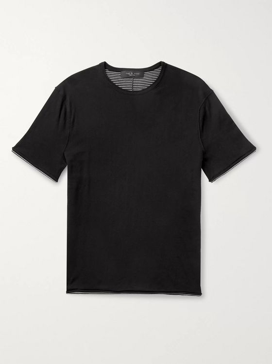 rag & bone Palmer Reversible Knitted Cotton T-Shirt