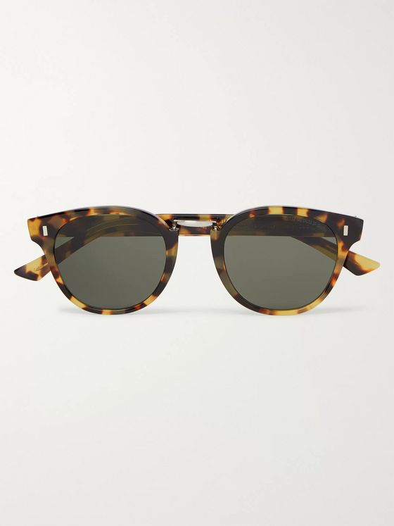 Cutler and Gross Round-Frame Tortoiseshell Acetate and Silver-Tone Sunglasses