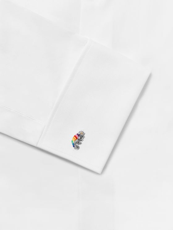 Paul Smith Chameleon Enamel and Silver-Tone Cufflinks