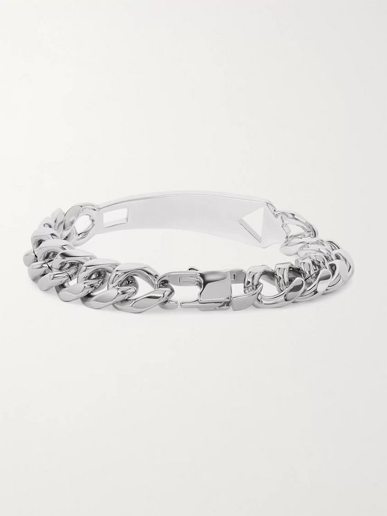 Paul Smith Silver-Tone Metal ID Chain Bracelet