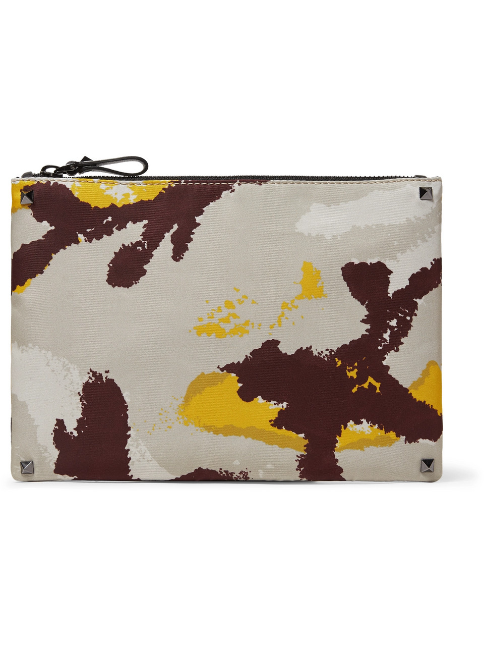 Valentino Camouflage-Print Canvas Pouch