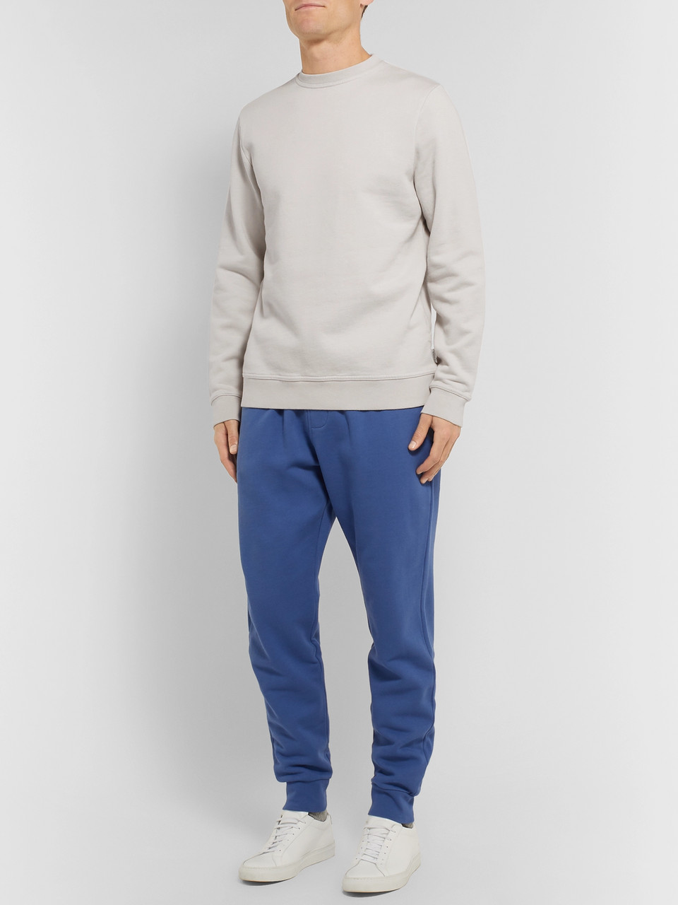 Oliver Spencer Loungewear Harris Brushed Fleece-Back Cotton-Jersey Sweatshirt