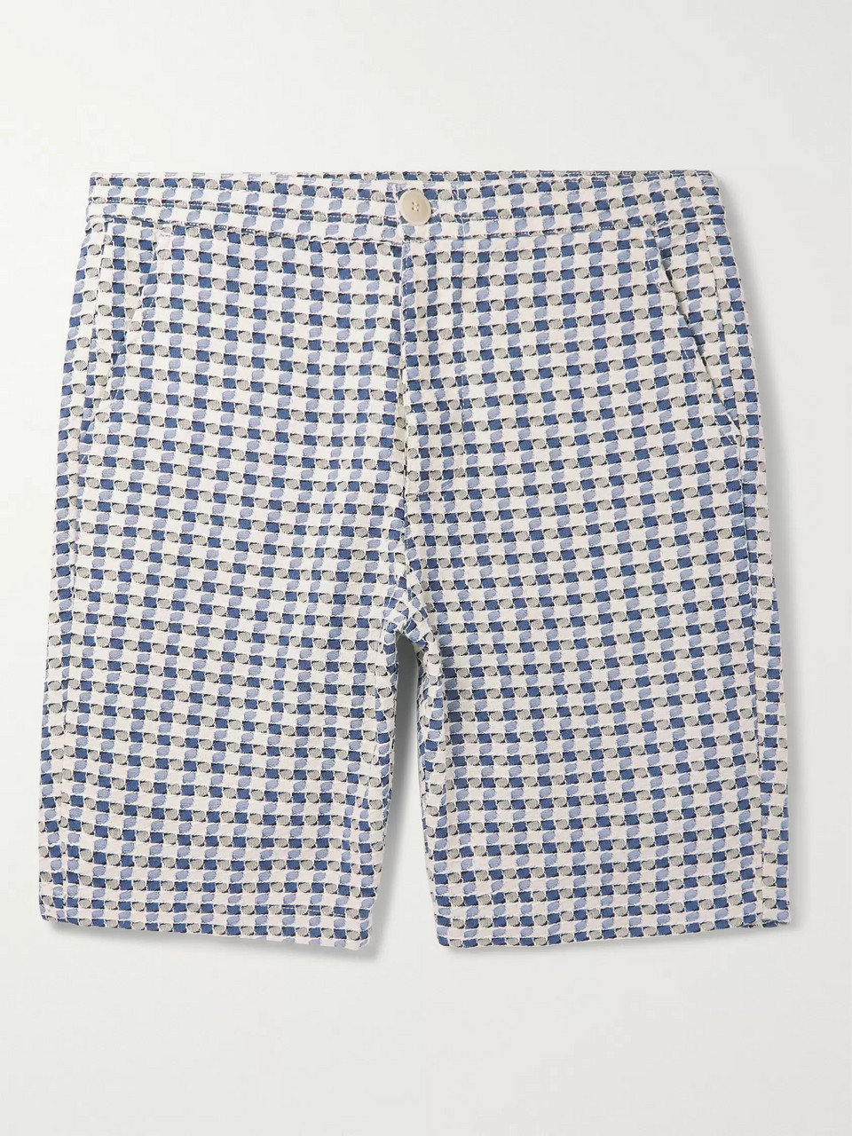 Oliver Spencer Ebley Checked Woven Cotton Shorts