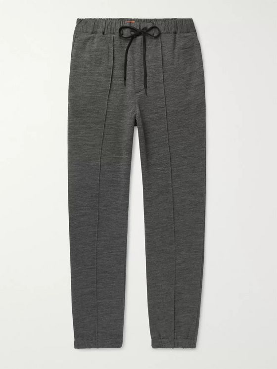 Barena Tapered Wool-Blend Jersey Sweatpants
