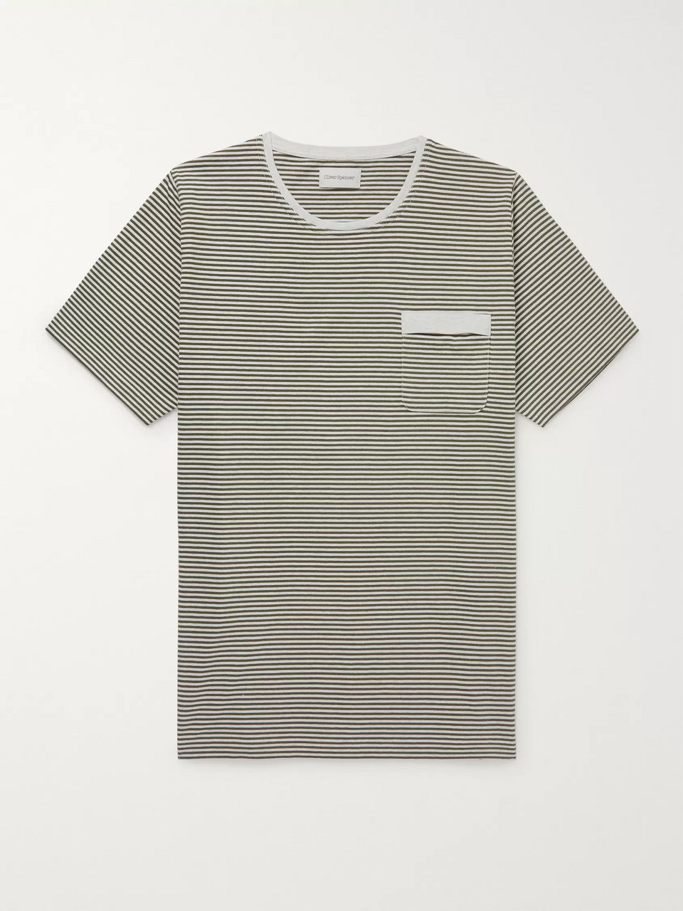 Oliver Spencer Danbury Striped Cotton-Jersey T-Shirt