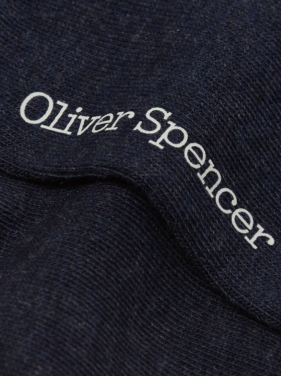Oliver Spencer Loungewear Turton Stretch Cotton-Blend Socks