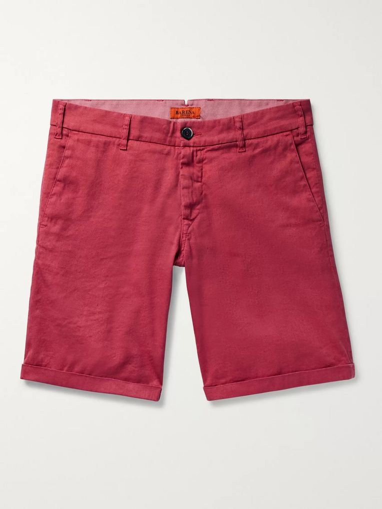 Barena Linen and Cotton-Blend Shorts