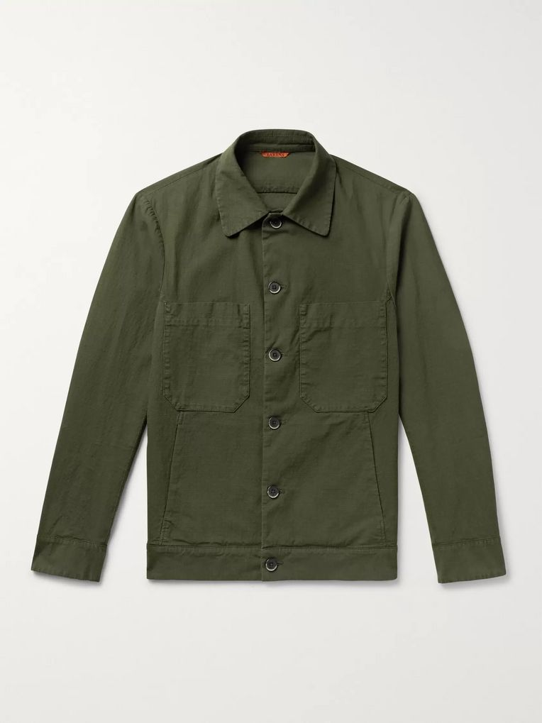 Barena Cotton-Blend Ripstop Overshirt