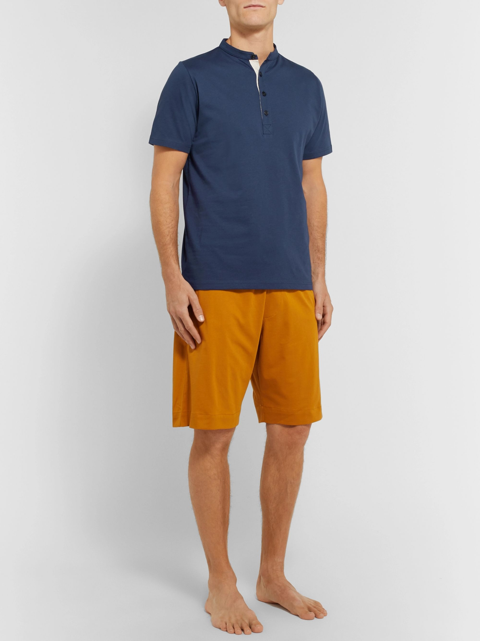 Oliver Spencer Organic Cotton-Jersey Henley T-Shirt