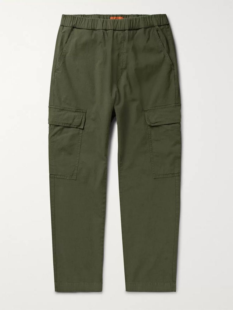 Barena Cotton-Blend Ripstop Cargo Trousers