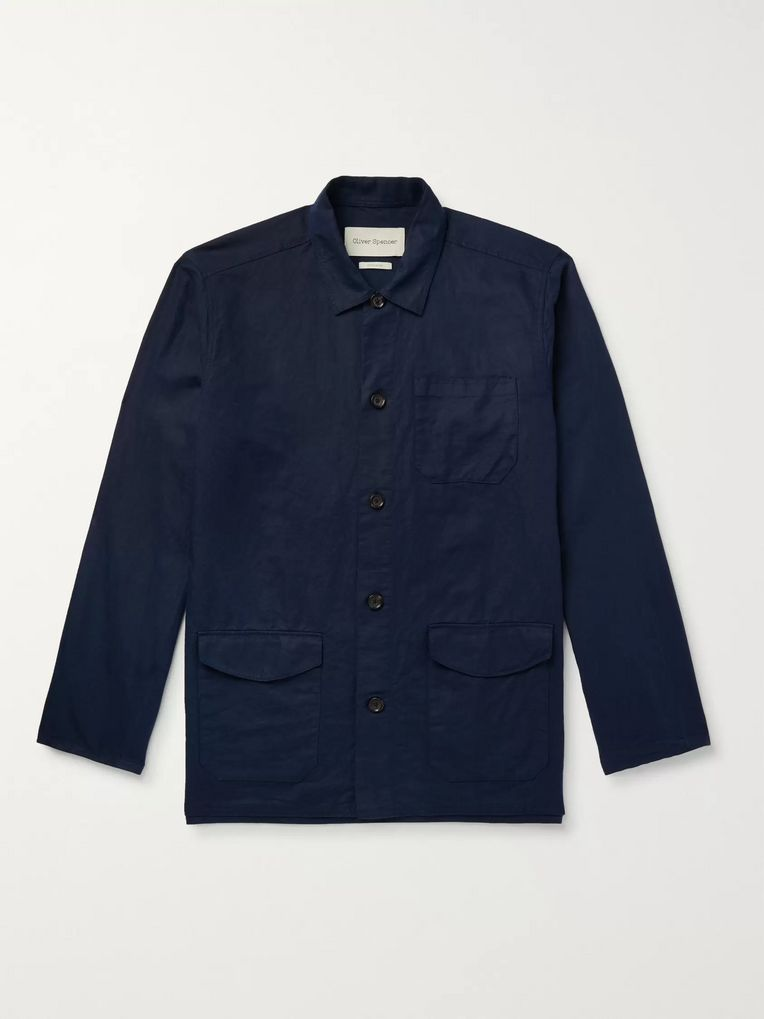 Oliver Spencer Linton Linen and Cotton-Blend Shirt Jacket