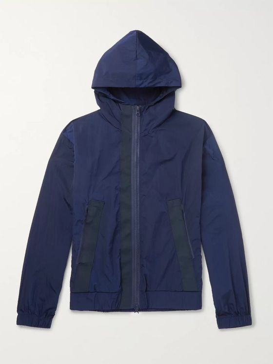 Barena Webbing-Trimmed Shell Hooded Jacket