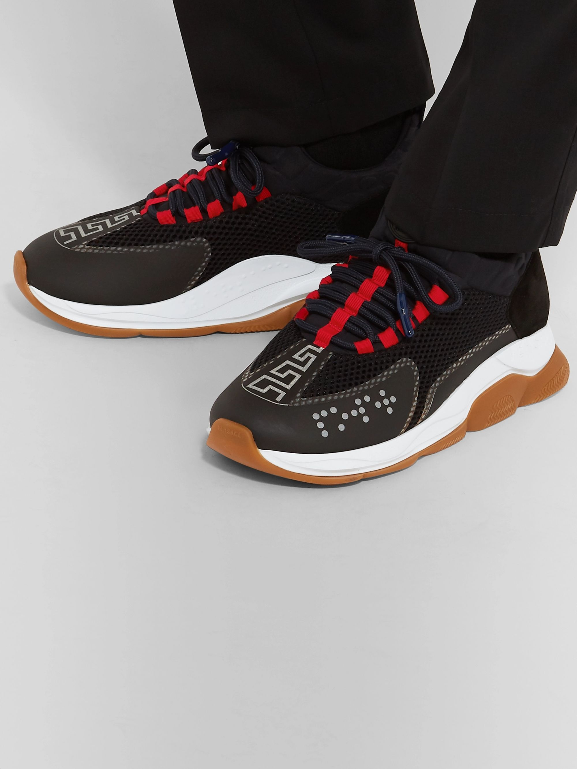 Cross Chainer Mesh, Neoprene and Suede Sneakers