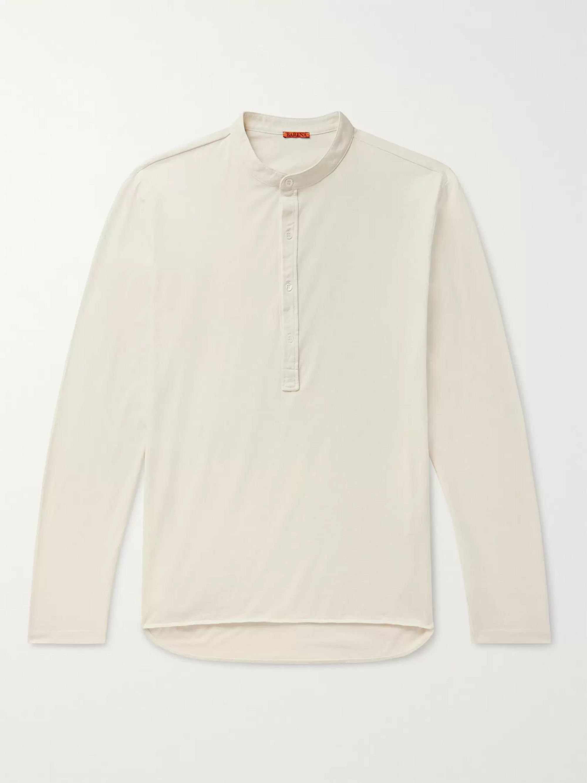Barena Cotton-Jersey Henley T-Shirt