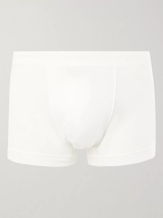 Secondskin Air Knit Cotton-Jersey Boxer Briefs
