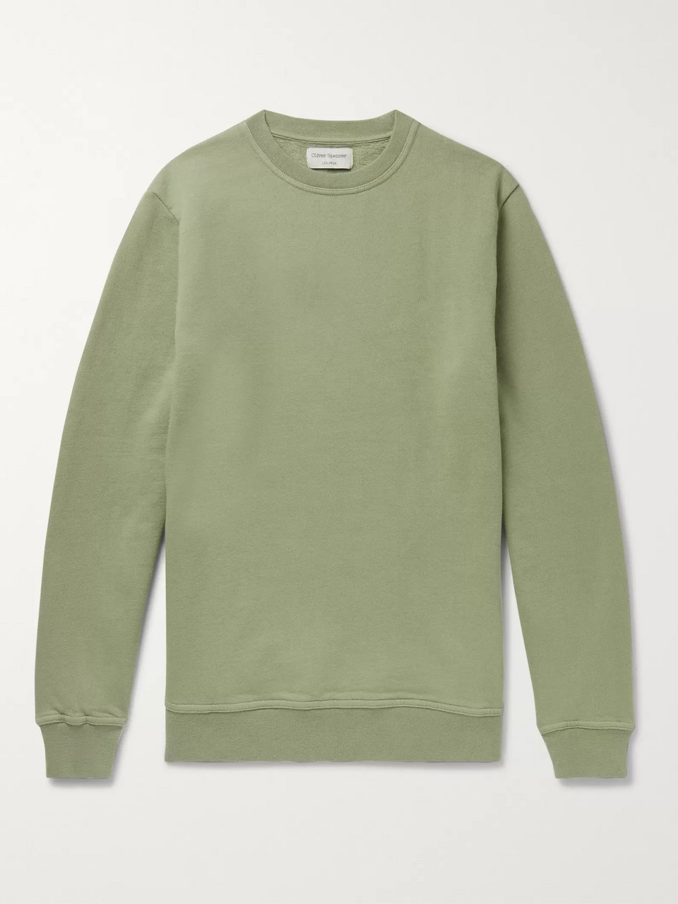Oliver Spencer Loungewear Harris Fleece-Back Brushed Cotton-Jersey Sweatshirt